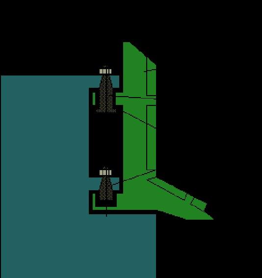 semi balanced rudder