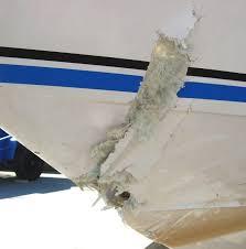 kerusakan kapal fiberglass