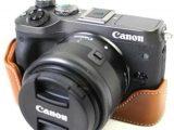 Kamera Terbaru Tas untuk Canon EOS M6 PU Kulit Setengah Badan Setcover-Internasional